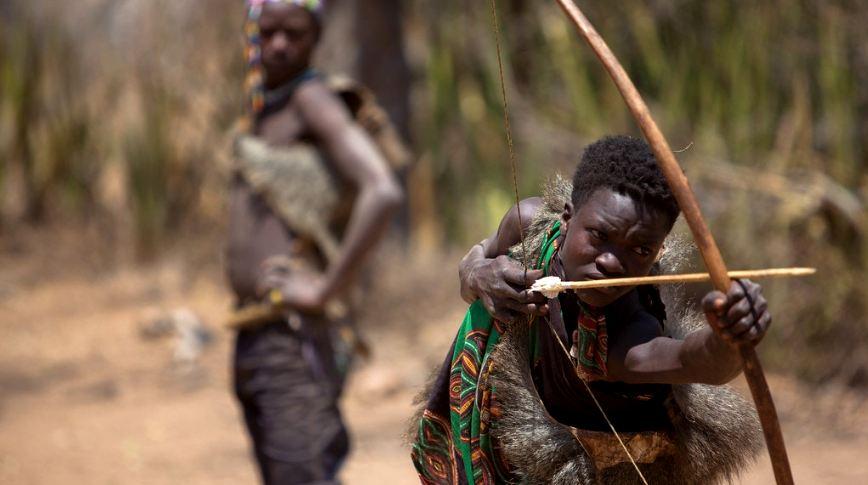 Hadzabe tribe hunting